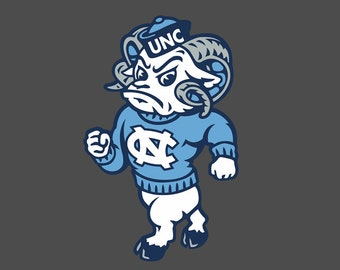 UNC Tarheels Strutting Ram Full Color - Die Cut Decal