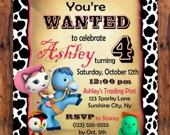 Sheriff Callie Invitation Etsy