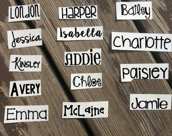 Personalized Name Decal | Custom Decal | Cup Decal | Car Decal | Vinyl Decal | Vinyl Name Decal | Name Decal | Any Word Decal Sticker