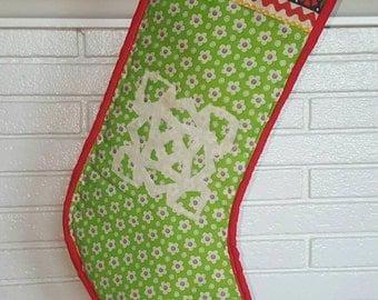 "Christmas Stocking ""Snowflake"""