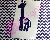 Giraffe with Monogram dec...