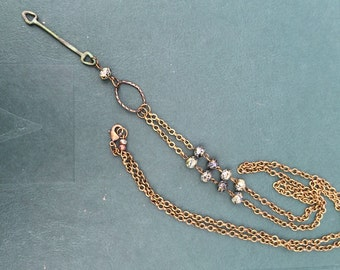 Beaded lariat length, boho-chic pendant necklace