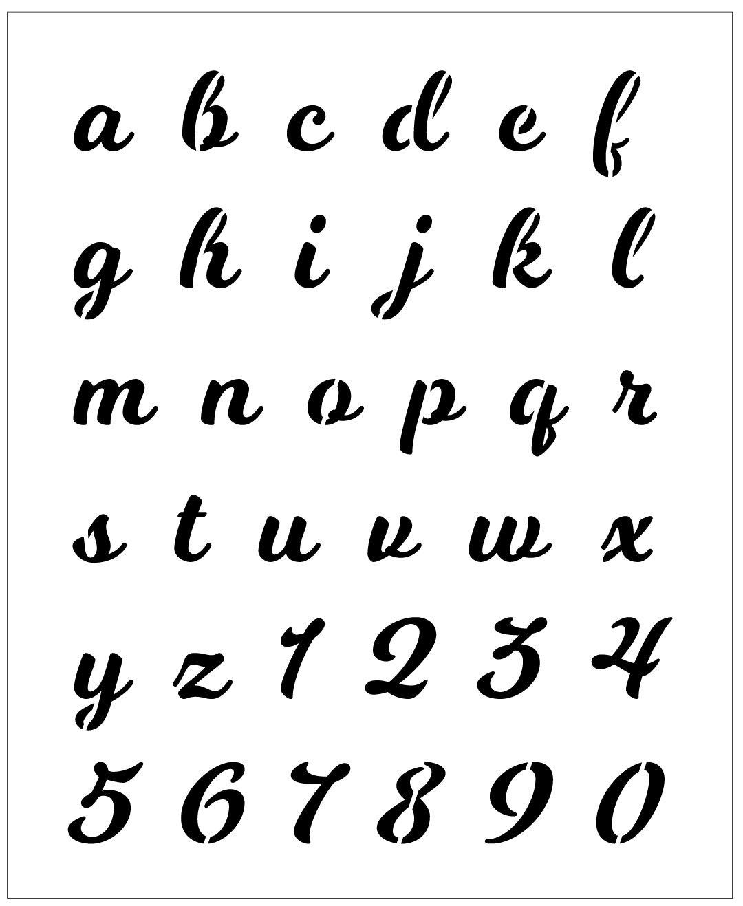 reusable 10mil laser cut mylar stencil milkshake script font 1