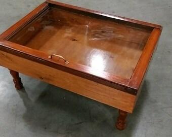 wood shadow box coffee table mahogany shadow box table. Black Bedroom Furniture Sets. Home Design Ideas