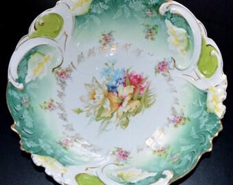 RS Prussia Porcelain Salad Bowl Mold RS 29 Decor HI1 Art Nouveau Period Cottage Chic Decor