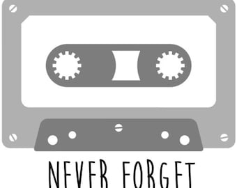 Never Forget - Tape Cassette Tape Deck T-Shirt