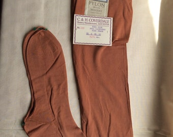 Vintage 1930s/40s ladies Pure silk fine guage stockings. Fully fashioned hosiery, Pylon, Leicestershire, England. Unworn deadstock, new /old