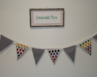 Childrens FABRIC Bunting, 100% cotton double-sided