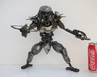 The Hunter Scrap Metal Sculpture Model Recycled Handmade Art Gift for Anniversary, Gift For Home Decoration, Gift for Birthday, Wedding Gift