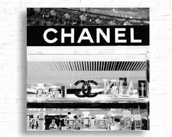 Paris Photograph - Chanel - Deisgner - Perfume - Fine Art - Black and White - France Photography - French Photography