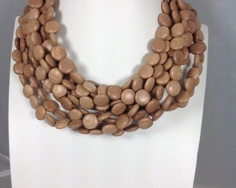Rose Wood 12 x 5 mm coin shaped beads