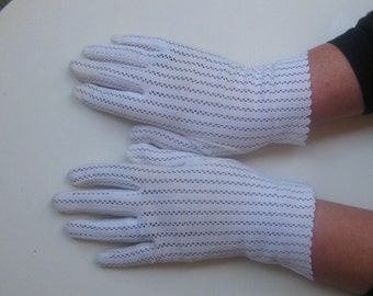 Org 40 he J. cream-white, lace gloves