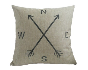 Compass cushion cover, pillow cover