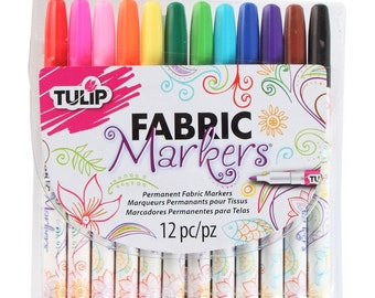 Tulip Fabric Markers, Fabric Pens, Fine Tip fabric  markers