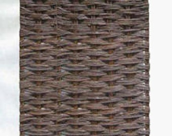 Willow woven hurdle fence panel, 4'W x 6'H, WWP-46