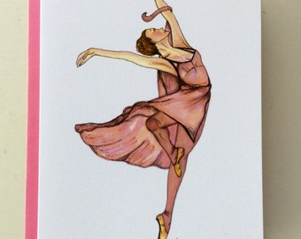 Free to Dance - pack of 4 greeting cards- blank inside- Ballerina cards - Encouragement Cards - Freedom - Joy - Dance Cards - Sympathy Cards