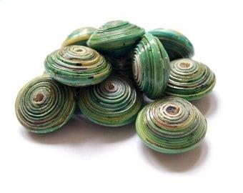 10 Ugandan JUMBO Recycled Paper Beads, African Handmade beads, Chunky beads, Ethical Beading supplies,Recycled paper beads, Fashion beads
