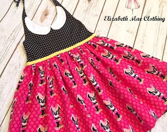 Minnie Mouse Halter Dress: size 2T to size 8