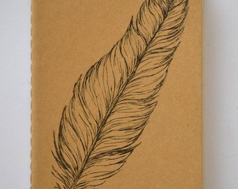 Feather Small Moleskine Cahier Journal Blank Pages Stocking Stuffer