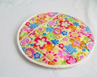 nighty storage pouch, girls pyjama case, nightwear bag, lingerie bag, bed wear tidy, lemon floral cotton fabric