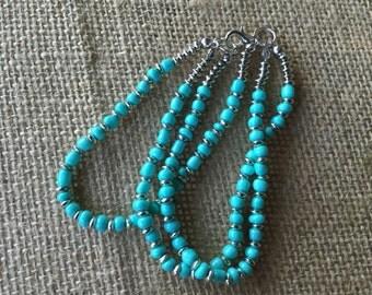 Turquoise bracelet/ bracelet/ three strand