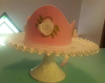 Sweet Felt Crown - Princess, Birthday, Flower Girl