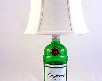 Tanqueray Recycled Liquor Bottle Lamp