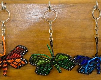Monarch Butterfly Keychain, Beaded