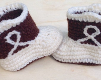 Baby cowboy boots crochet