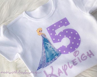 Custom Frozen Birthday Girl Shirt
