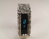 FitBit Alta Band Cover: Silver Edinburgh Scroll with Window