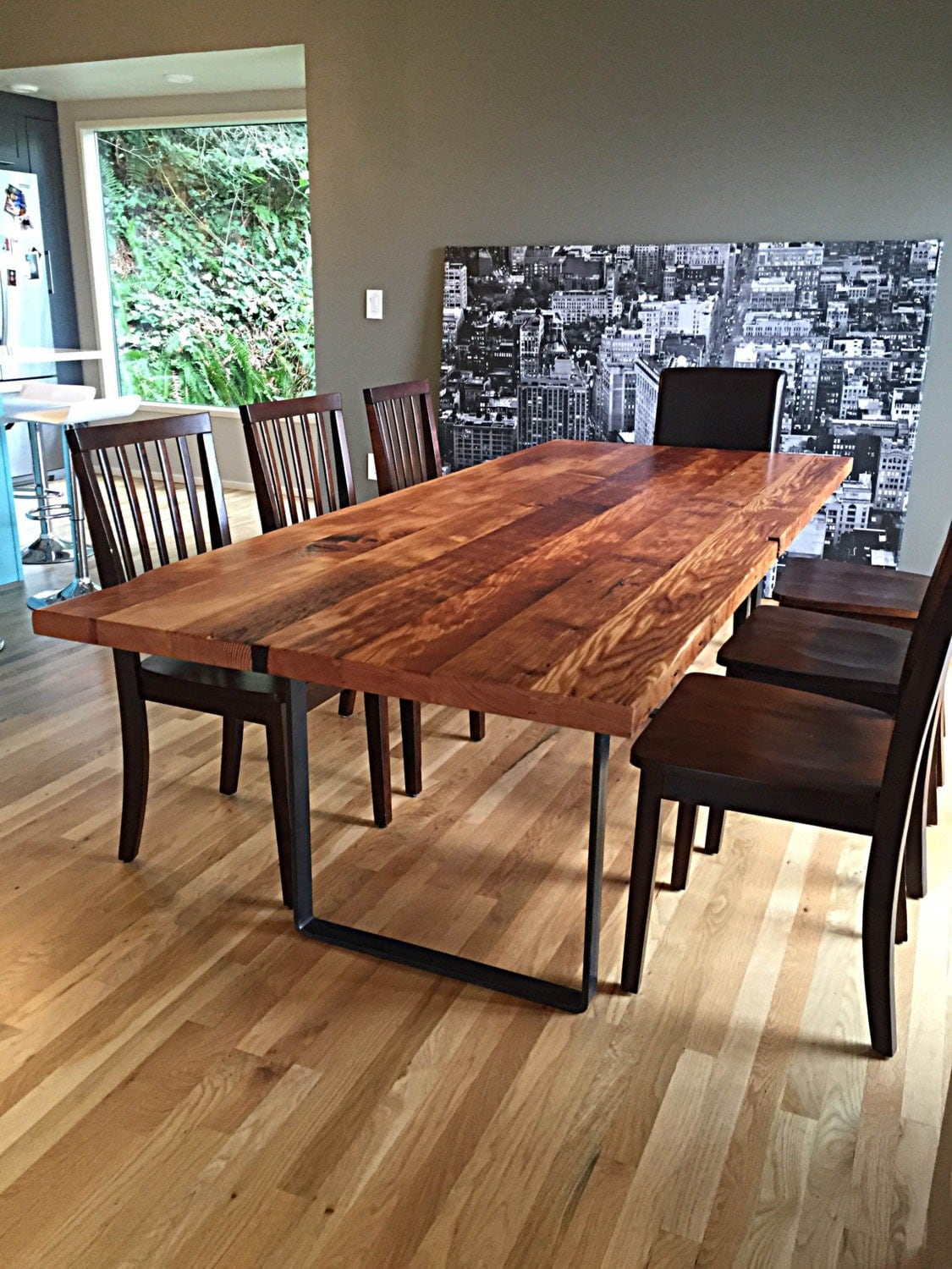 Reclaimed wood table Reclaimed furniture portland