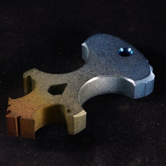 Anodized 'The Bull' Titanium Skully Dagger/Bottle Opener