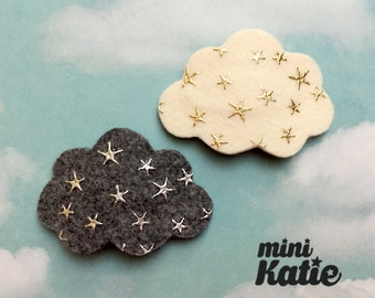 mini Katie Star Cloud Hair Barrette, Adorable Hair Clip for girls baby Toddlers Infants
