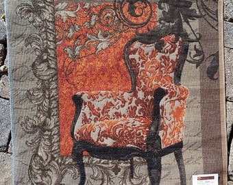 WIng Chair Tapestry Sample