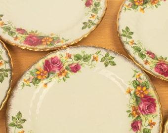 English Cake Plates Six
