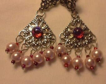 Mexican Opal glass and Glass Pearls E 204