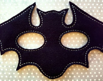 Batman mask Embroidery Design halloween ITH Project In the Hoop Costume, Cosplay, Fancy dress, Masquerade, Photo booth, Prop.