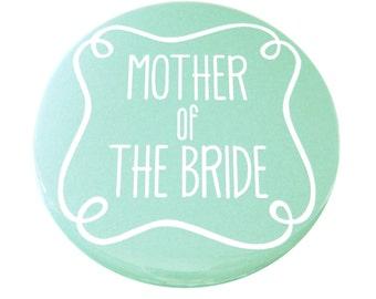 Mother of The Bride Pocket Mirror - Aqua, Grey or Pink