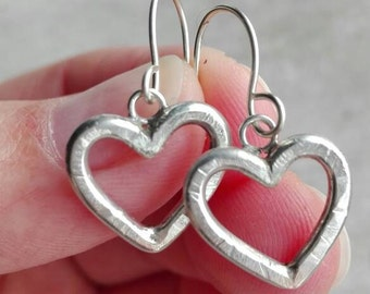 Valentine hearts, perfect gift! 925 sterling silver, hand made