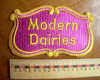 Unused MODERN DAIRIES PATCH made in the 1980's in Canada.