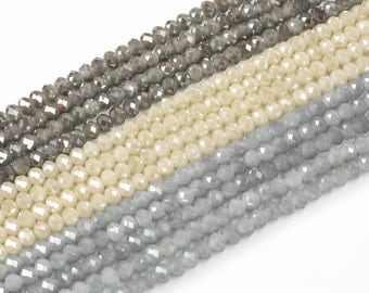 4mm 6mm 8mm 10mm Mystic Crystal color Rondelle-5 or 10 STRAND