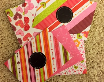 Budget Envelopes - Variety of Pinks, Purples and Oranges