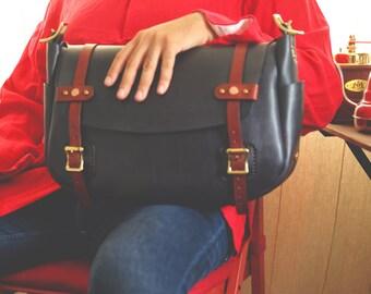 Leather Shoulder Bag, Satchel Bag, Leather Bag, Cross-Body Bag, Saddle Bag.