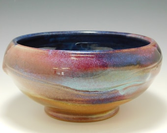 308 - Bowl, Cereal, Soup, Salad, Serving, Wheel Thrown Stoneware, Colorful