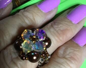 Bronze Pearl ring