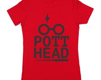 Pot Head Potter Funny Wizard Geek Weed Women's Jr Fit T-Shirt DT0002