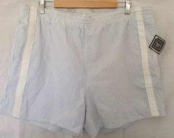 SALE Vintage 1980's Men's Christian Dior Pinstriped Shorts Lounge Casual New with tags sz  XL