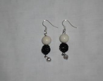 Rose & Pearl earrings