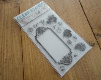 """Clear stamps """"flowers in Spring"""""""